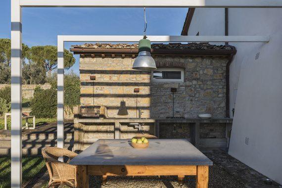 esterno baebecue e cucina